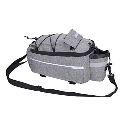 自転車バッグ リアバッグ 大容量 自転車バックバッグ 登山/旅行/キャンプ/ハイキング キャリアバッグ 収納力抜群 反射材入(グレー)
