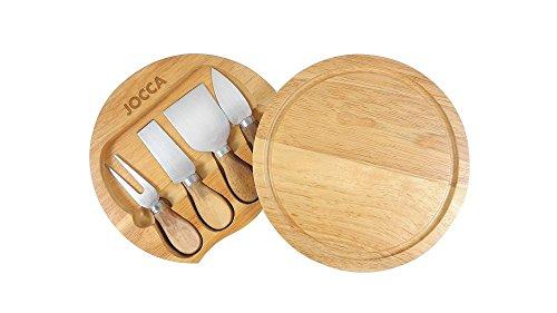 Interno + Cofanetto con set di 4 coltelli in acciaio INOX, per tutti i tipi di formaggi Diametro 20 cm 4 coltelli per formaggio