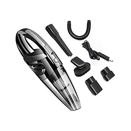 Aspirador de carro de mano inalámbrico con 120W de alta R, 32kPA Carga de vacío automático portátil, ventilador de aluminio fuerte, filtro, uso en mojado / seco para el hogar para el hogar PET PEAR OF