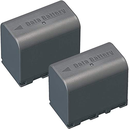 Two (2) Pack - High Capacity Decoded (3400 mAh) JVC BN-VF823, BN-VF823U, BN-VF823USP Replacement Battery Pack for JVC Camcorders
