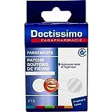 DOCTISSIMO - Parche invisible contra el herpes, anti-úlceras, labio piel de la cara, 15 parches