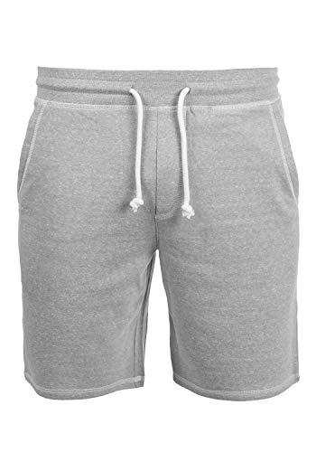 !Solid Toljan Pantalón Corto Chándal Sweat- Bermudas para Hombre, tamaño:XXL, Color:Light Grey Melange (8242)
