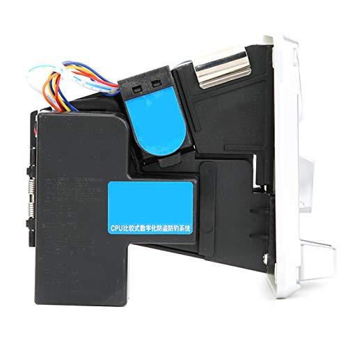 Selector de monedas mecánico, -15 ℃ ~ + 15 ℃, caja selectora de monedas, plata, amarillo, DC + 12 V ± 10 %, para máquinas expendedoras para máquinas expendedoras de productos de bebidas (plata
