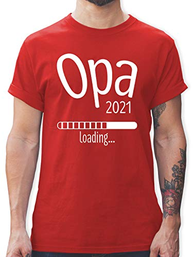 Preisvergleich Produktbild Opa - Opa 2021 Loading - M - Rot - Opa Loading 2021 - L190 - Tshirt Herren und Männer T-Shirts