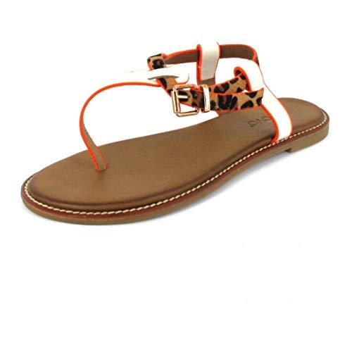 Inuovo Sandale Sandals Bone-Leo-Neon Ora Größe 40, Farbe: Bone-Leo-Neon Ora