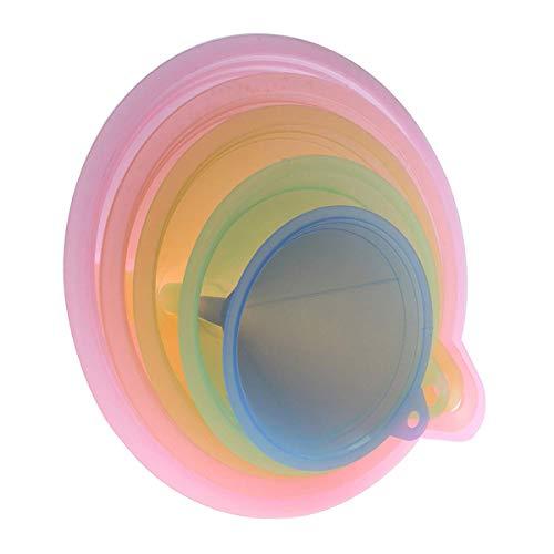 Trichter-Set für die Küche, Regenbogenfarben, Trichter, 67 mm, 83 mm, 98 mm, 110 mm und 125 mm, 5 Stück