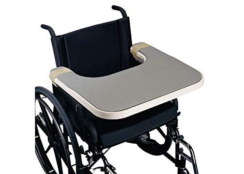 Rolyan Sammons Preston Economy Geformte Lap Tray, Rollstuhl Zubehör für das Schreiben, Lesen und Essen, Attachés zu Standard- und Schreibtisch Rollstuhl Arme, Rollstuhl-Tray, abnehmbares Tablett