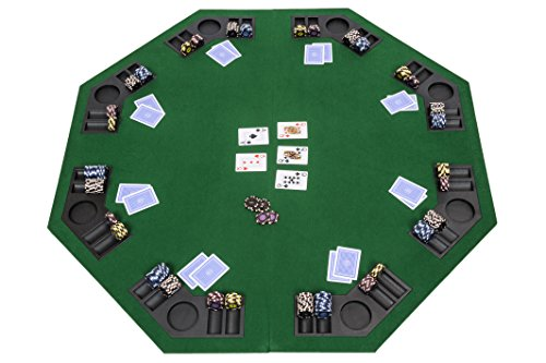 Riverboat Gaming Tablero de póquer Plegable con Bolsa de Transporte - Mesa de Poker Verde 120cm