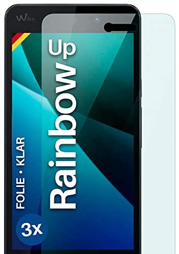 moex Klare Schutzfolie kompatibel mit Wiko Rainbow Up - Bildschirmfolie kristallklar, HD Bildschirmschutz, dünne Kratzfeste Folie, 3X Stück