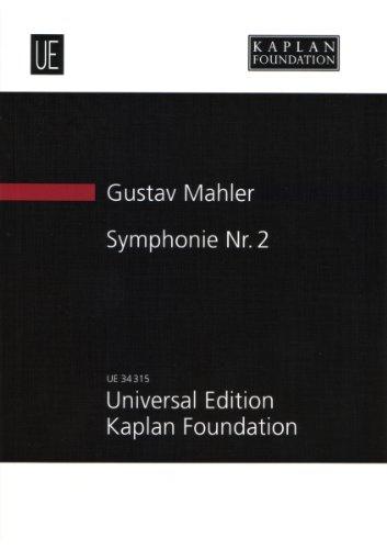 """Symphonie Nr. 2: """"Auferstehungssymphonie"""". für Soli, gemischten Chor (SATB) und Orchester. Studienpartitur."""