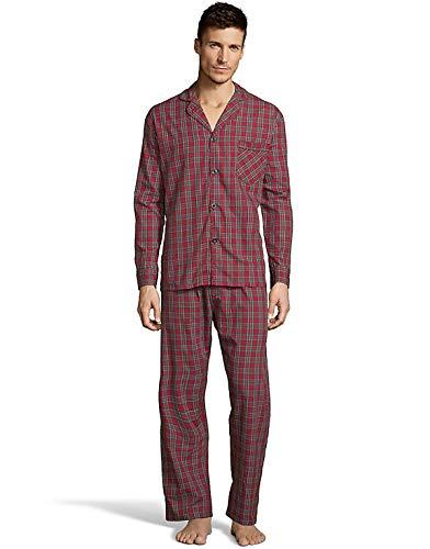 Hanes Men's Woven Pajamas Red Plaid M Hanes Men's Woven...