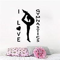 。体操ビニールウォールステッカー女の子の部屋の取り外し可能な壁の装飾装飾ウォールステッカーステッカー壁画ウォールステッカー43cmX 76cm
