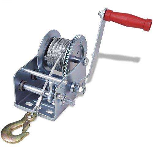Manuelle Seilwinde 113 kg 40 x 29,5 x 17 cm (L x B x H) zum Ziehen oder Heben von sperrigen Gegenständen oder schweren Gegenständen
