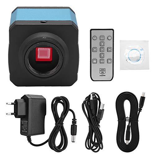 Mikroskopkamera 14MP USB HDMi Digital Microscope Camera Video C-Mount mit Software IR-Fernbedienung(EU-Stecker)