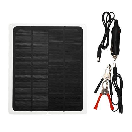 Fenteer 20W Solar Auto Batterie Ladegerät Hohe Umwandlung Mono Solar Panel mit Zigarette Leichter Stecker für Rv Motorrad Boot Auto