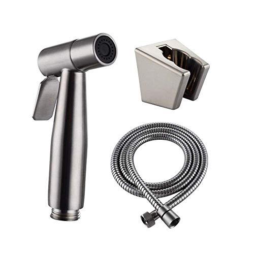 YUXIwang Kit de Spray de bidé Cuarto de baño WC for Montaje en Pared con WC y bidé Monte Holder - Cabeza de Acero Inoxidable Bidé Cabezal de Ducha de Acero Inoxidable Bidé Ducha