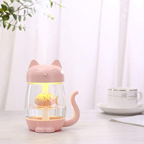 Summer Cute Cat Essential Oil Diffuser LED Aromatherapy Humidifier with USB Inte Home Garden humidifier