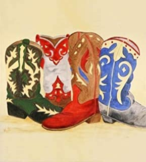 Appliance Art Cowboy Boots Decorative Magnetic Dishwasher Front Panel Cover - Quick, Easy & Affordable DIY Kitche? UPGRADE - Print by Marti Idlet