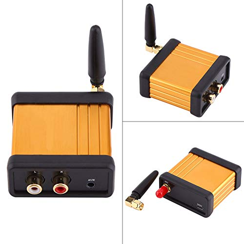 Okuyonic Caja estéreo de recepción de Audio de Baja latencia Hi-Fi de 5 V CC de tamaño Mini Bluetooth 4.2 para componente de Audio de Unidad de Auriculares