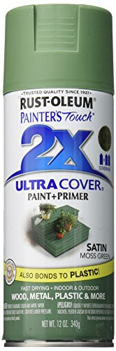 Rust-Oleum 249071 Painter's Touch 2X Ultra Cover, 12 Oz, Satin Moss Green