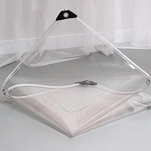 U/D Lonas Impermeables Exterior, Lona De Plástico PVC con Ojales, Toldo Antienvejecimiento A Prueba De Lluvia para Balcones De Jardines De Flores,Clear,1.5x2m