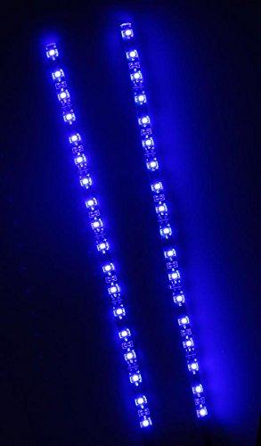 CREATIVE LIGHTS – AQUARIUM MONDLICHT 2 x 30 CM LED LICHTLEISTE + DIMMER KOMPLETTSET INKL. NETZTEIL FLEXI-SLIM BLAU - 4