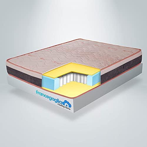 FRANCEGAGLIA-Materasso Singolo Memory Foam a Molle insacchettate-h25cm– MadeinItaly-Materasso Singolo a Molle 90x200 Ausilio Medico-Mod.Healthy Dream