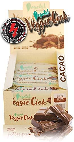 +Watt Veggie Ciok, Barrette Vegane, Box 24 Barrette Da 40 Gram (Cacao)