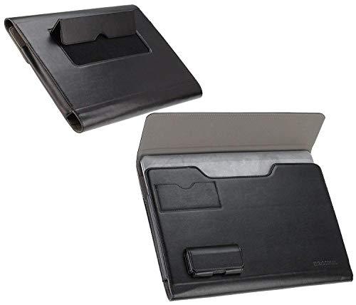 Navitech Broonel London – Prestige – schwarzes Premium Fall/Abdeckung/Trage Tasche/Folio speziell für Dell Inspiron 15 5000