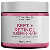 Beet and Retinol Gel Face Mask - Hydrating Face and Neck Moisturizer for Anti Aging, Wrinkle, Acne, Firming and Dry Skin - Organic Facial Mask for Women, Men and all Skin Types - 4 Fl Oz