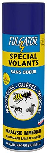 FULGATOR - Insecticide SPÉCIAL VOLANTS - Action rapide et puissante contre les insectes volants : mouches, guêpes, moustiques, moustiques tigres - Sans odeur ni retombées - Fabriqué en France - 500mL