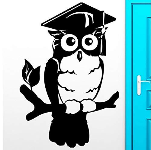 Hibou Oiseaux Stickers Muraux Pour Chambre Smart Wise College Graduation Sticker Mural Pour Salon Décoration de La Maison 42x61 cm