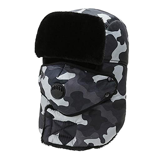 Trapper Hat Unisex Winter Ear Flap Warm Thermal Lined Outdoor Ski Snow Windproof Bomber Cap