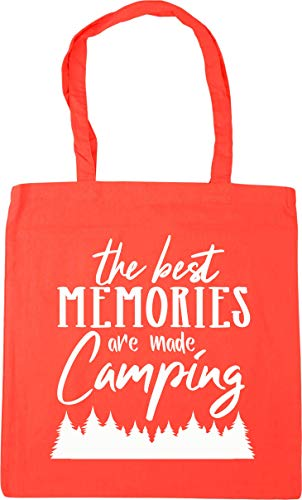 Hippowarehouse The Best Memories Are Made Camping Tote Shopping Gym Beach Bag 42cm x38cm, 10 litres
