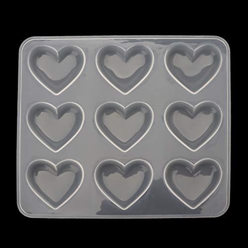 Chuance Silikonform Gießform Resin Form 9 Tasse Herz Schokolade Silikon Dessertform Backen Cupcake Harz Schmuckform