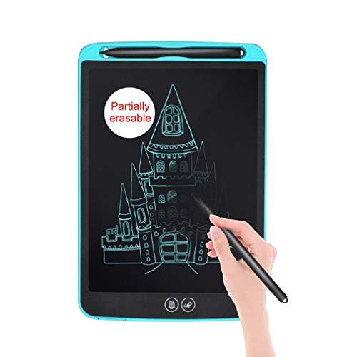 LCD Schrijven Tablet, 12 Inch Electronic schrijven en tekentafel, uitwisbare Herbruikbare Doodle Pad Tablet voor kinderen en volwassenen thuis, op school, kantoor,Black
