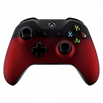 Xbox One Wireless Controller for Microsoft Xbox One - Custom Soft Touch Feel - Custom Xbox One Controller  Red & Black Fade