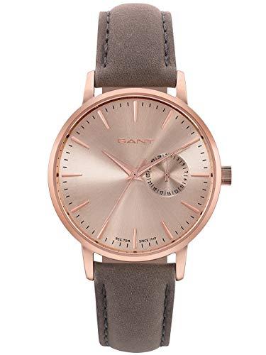 Gant Unisex Erwachsene Analog Quarz Uhr mit Leder Armband W109226