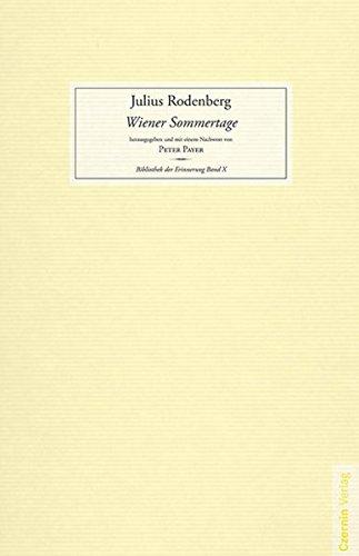 Wiener Sommertage (Bibliothek der Erinnerung)