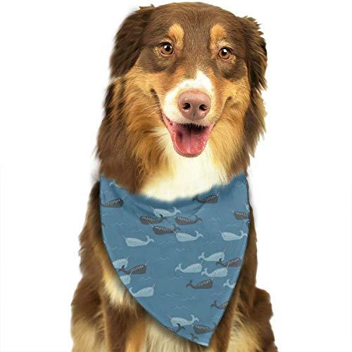 FunnyStar hond Bandana Narwhals op donkerblauwe sjaals accessoires decoratie voor huisdier katten en puppies