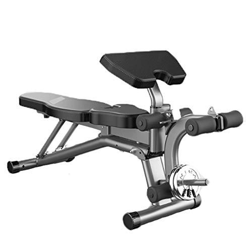 Verstellbare Bänke Kurzhantel-Hocker Klappbarer Bauchmuskelbrett-Bankdrücken Bird-Fitness-Übungsstuhl Multifunktionales Bauchmuskeltrainingsgerät