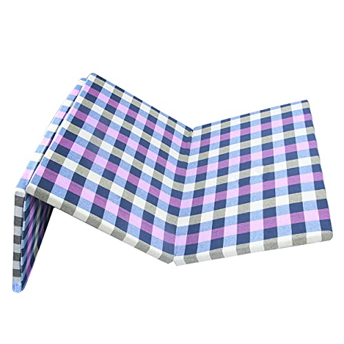 Padam Shree 2 Inch Dual Comfort Reversible Foldable EPE Foam Single 3 Fold Bed Mattress (Medium, 72 x 35 x 2 Inch)