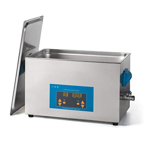 CGBF-Limpiador Ultrasónico 20L con Calentador y Temporizador,Lavadora Ultrasónica Industrial del Ultrasonido de La Máquina de Cavitación 600W para Limpieza Profesional de Coches de Joyería