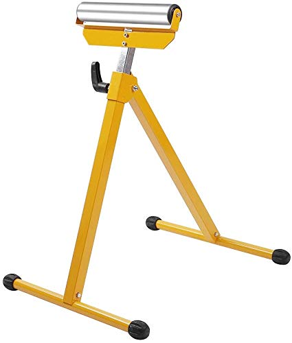 TUFFIOM Roller Stand, Folding Material Support Pedestal Height Adjustable Portable, 132lbs Weight Capacity, Work with Table Miter Saws for Log Timber Firewood