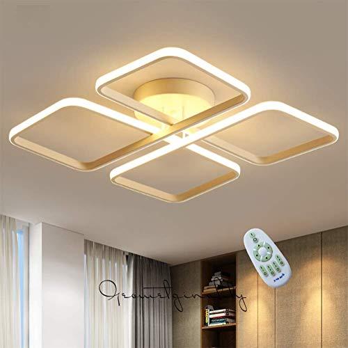 Moderne led-plafondlamp woonkamer landelijke stijl dimbaar met afstandsbediening van acryl wit lampenkap design plafondlamp voor slaapkamer binnen eetkamer keuken