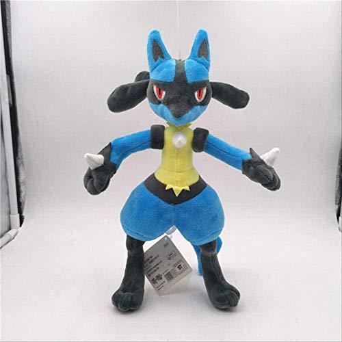 N  A Pokemon Pikachu Lucario Juguetes de Peluche heterocromáticos muñecos de Peluche Suaves para niños presentes 25-30cm Lucario