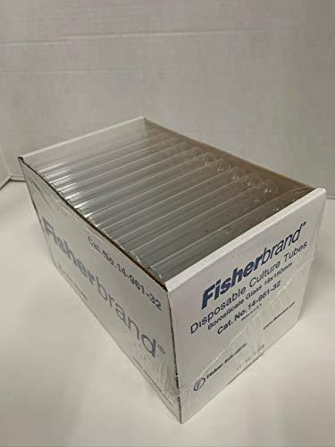 Fisherbrand 14-961-32 Einmal-Kulturröhrchen, 18 x 150 mm, 500 Stück versiegelt