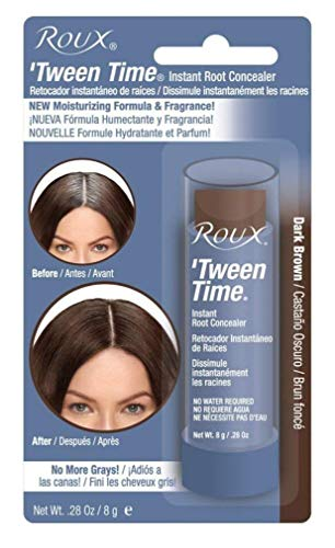 Roux Tween Time Instant Root Concealer Dark Brown, 1 ea (Pack of 2)