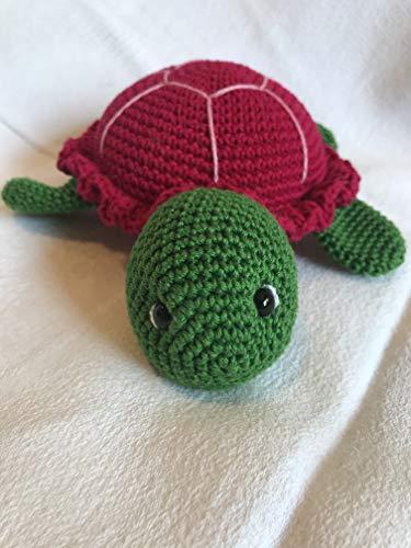 Peluche tortue 20cm crochet en coton pour enfant
