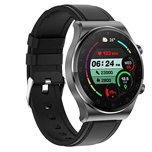 Smart Watch 1.3 pulgadas pantalla táctil llamada relojes Bluetooth Monitor de ritmo cardíaco Monitor de sueño Presión arterial Monitoreo de la presión sanguínea Rastreador de la aptitud del oxígeno de